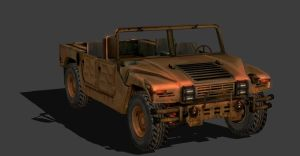 HUMVEE TOPLESS by Oo-FiL-oO