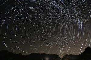 Gates Pass - Star Trails by Mfcox