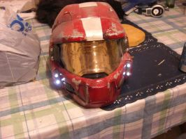 'Halo' Spartan Helmet, Red by NocturneOblivion