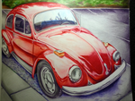 Red beetle Art by snow0storm
