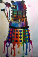Rainbow Dalek by BrunettePanda