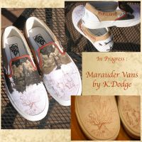 In Progress: Marauder Shoes :D by theartful-dodge