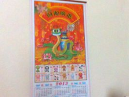 The photo my my Chinese Scroll Calendar, :)!!! by Felzm