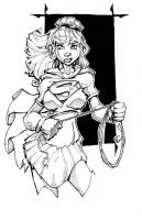 SUPERGIRL line art by rantz