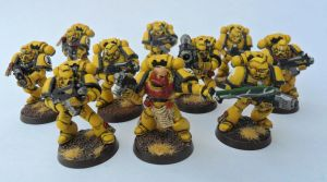 Imperial Fist Tactical Squad 1 by Ninestar