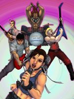 Chun Li and the Hadoukens by angryzenmaster