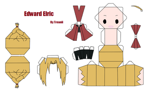 Edward Elric Paperdoll by Treanii