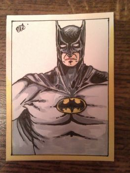 Batman Sketch Card by Riala