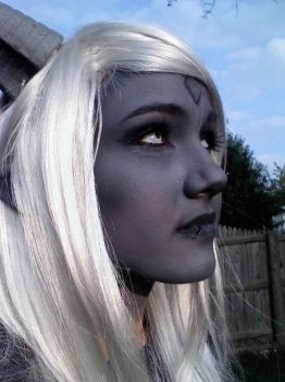 Draenei Makeup by Egg-Sisters-Cosplay