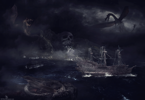 Lost in dragon's ocean by D27Gfx