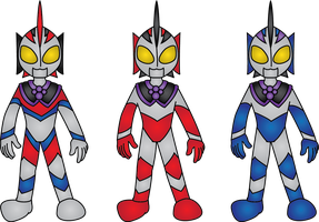 Ultraman Centro's forms by ImaginDevan