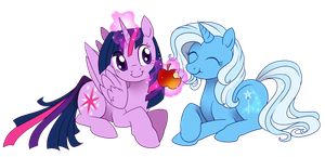 Magical friends by ShinePawPony