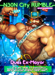 NEON CITY RUMBLE Dues X-Mayor card by Darkdux