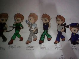 JeremyRenner : Movies to movies (chibi) by BeePrimeTF