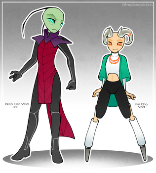 New OCs - Veld and Fai Cho by CitrusKissed