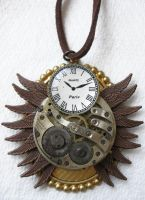 Steampunk Necklace - Owl by xxPRECIOUSMOMENTSxx