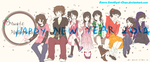 Music 'n' Happiness' members :Happy New Year 2014 by KaoruAmethyst-Chan