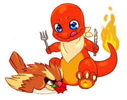 Charmander's Thanksgiving by bricu