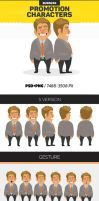 Business Character Promotion by aveshurka