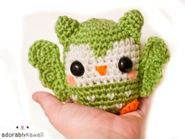 cute green owl amigurumi 2 by adorablykawaii