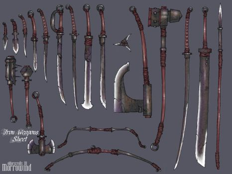 Morrowind Iron Weapons by DawidFrederik