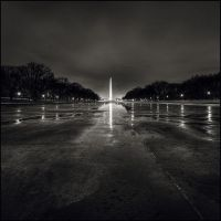 Frozen Washington Monument by perry