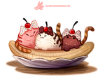Daily Paint 1291. Ba-nyan-a Split by Cryptid-Creations