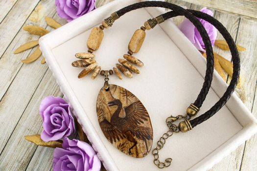 Archaeopteryx - prehistoric style necklaces by LunarFerns