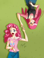Pinkie Pie y  Pinkamena by Shinta-Girl