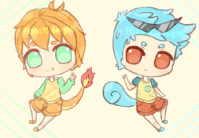 Adoptables: Char. Squirtle gijinka [CLOSED] by MidnightAdoptss