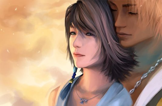 Tidus and Yuna by GummyInABox