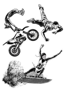 ACTION POSE ILLUSTRATIONS by IamAxiom
