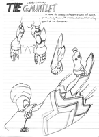 Weapon Study 002 - The Gauntlet by mrspokemon