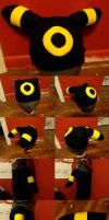 Umbreon Hat and Tail by Feathery-Wings