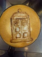 Tardis latte by Coffee-Katie
