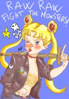 RAW RAW FIGHT THE MONSTERS by ANTONIOMASTERPERES