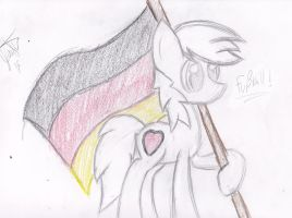 Divine Night carrying a German flag by dpippin