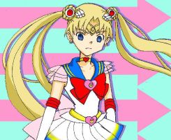Mix Sailor Moon and Maka by CL-Pinkskull