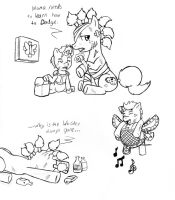 FalloutPonies-Raider and kid2 by Demon-Keychain