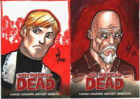 Walking Dead Sketchcards.03 by RyanKinnaird