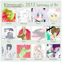 2013 Art Summary. by KeptinKeem