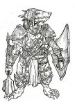 Cleric Kobold - A4 ink by IgorChakal