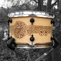 Knotwork Drum by laurapalmerwashere