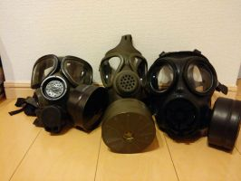 My gas mask collection by ToniBabelony