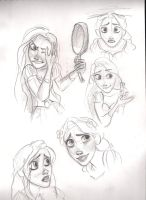Rapunzel's sketches by karenvicious