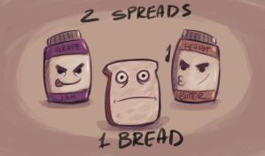 2 Spreads 1 Bread sketch by pandatails
