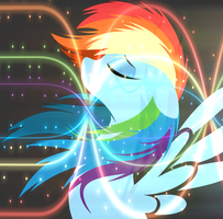 - RE-UPLOAD - Dashing Rainbow Horse by Dash-of-L0YALTY