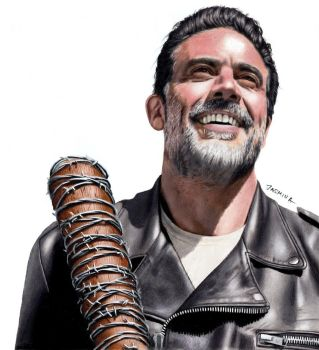 Colored Pencil Drawing of Negan and Lucille :) by JasminaSusak