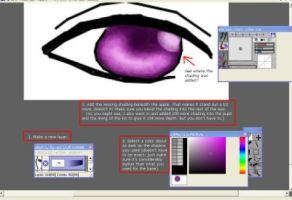 Coloring Eyes in openCanvas by M1NAM1