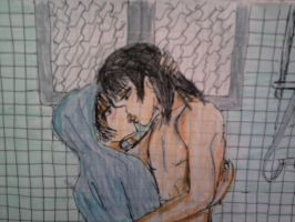 Kiss after shower by JoanDoublet